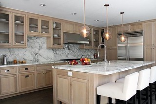 Beautiful Kitchen Features Wire Brushed Oak Cabinets Paire Flickr