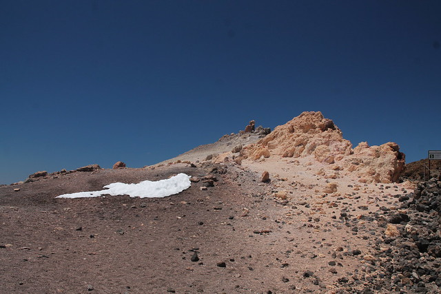 patch of snow on Pico del Teide