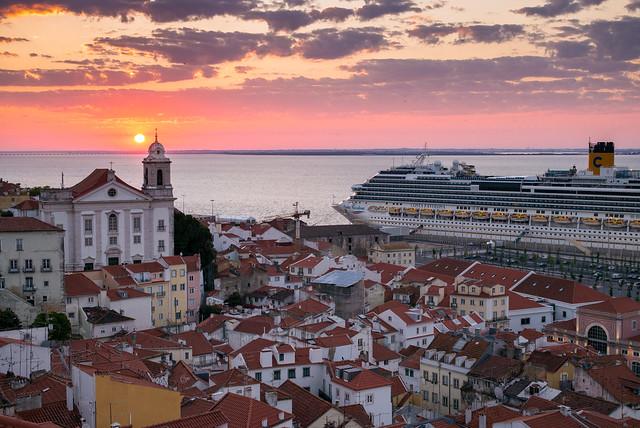 Lisbon at Sunrise (Explored)