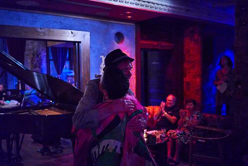Beth Arroyo Utterback and Dean Ellis at Piano Night - April 29, 2019. Photo by Eli Mergel.