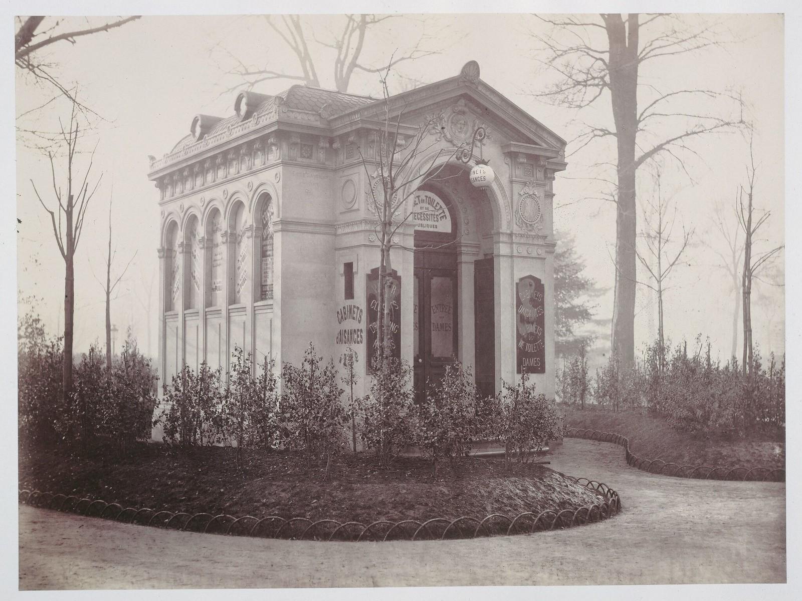 1870. Общественный туалет, Елисейские поля (VIII округ)
