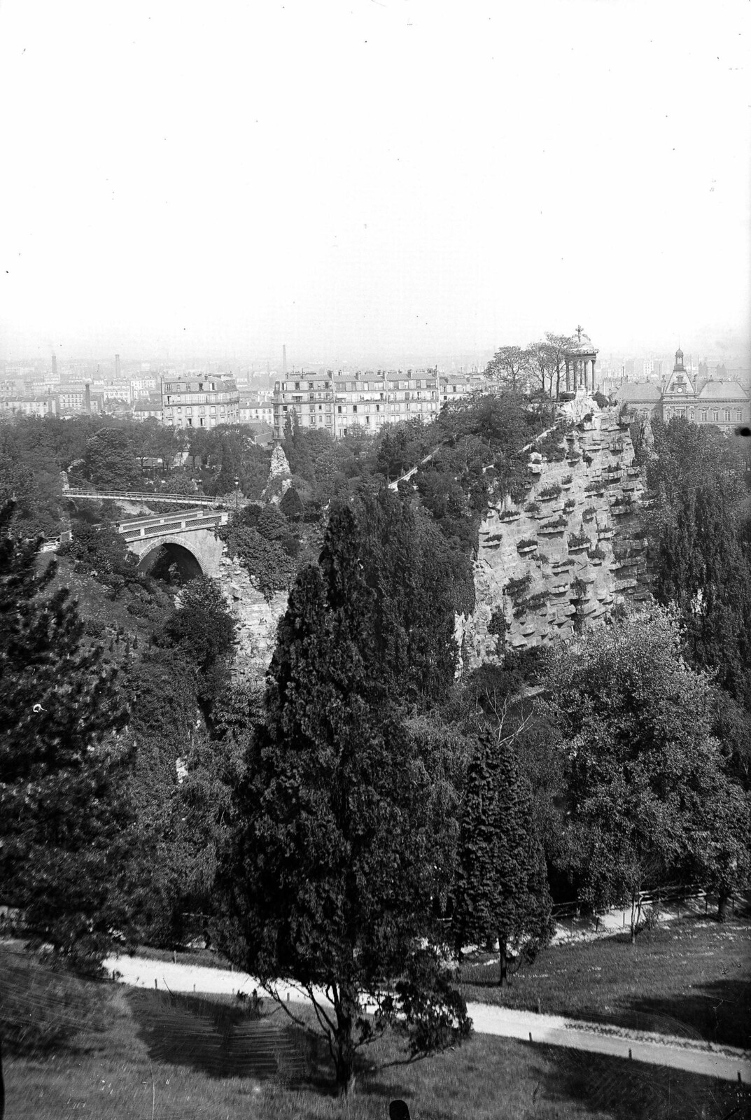 1865. Париж XIX округ. Парк Бют-Шомон