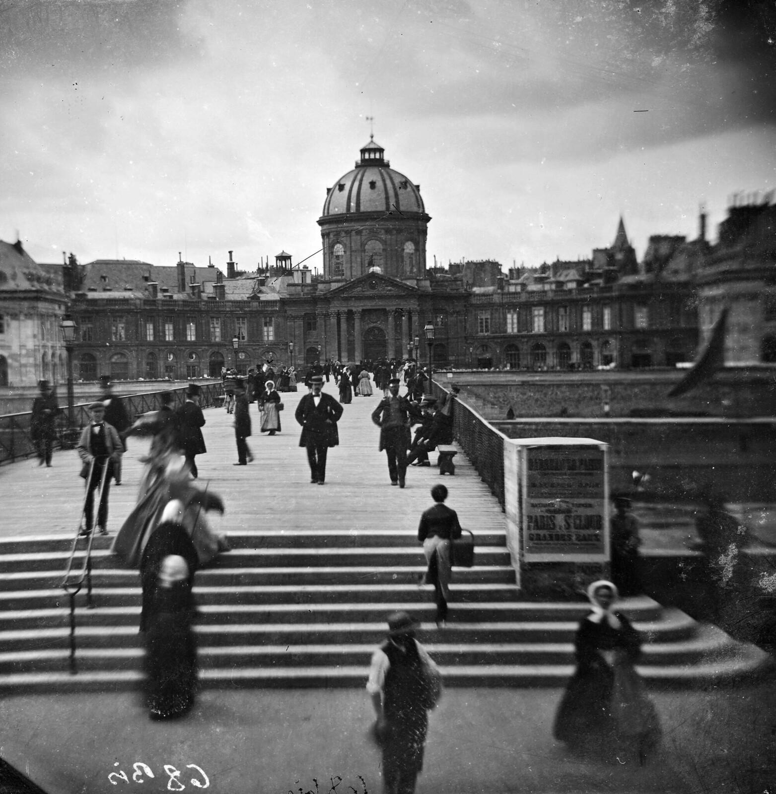 1865. Мост Искусств и Институт Франции
