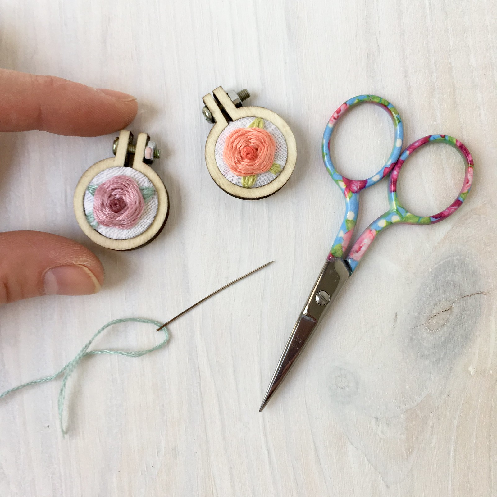 mini rose charms