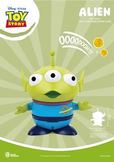 讓玩具好伙伴幫你存錢~ 野獸國 大型搪膠存錢筒系列《玩具總動員》三眼怪、火腿 Alien、Hamm