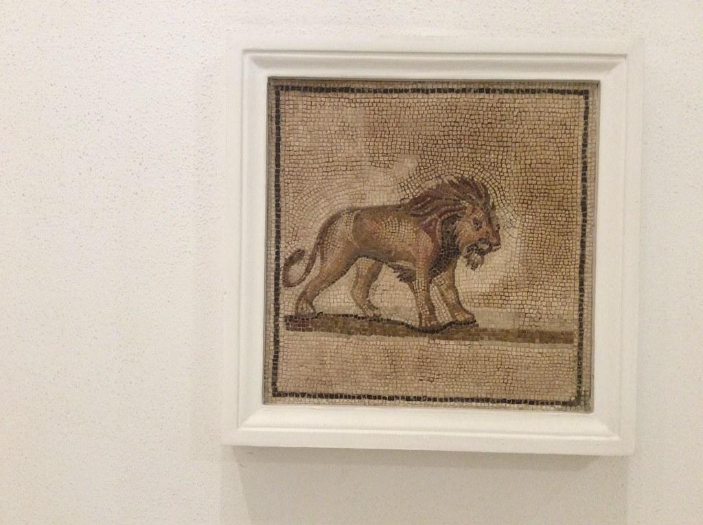Mosaique de lion dans le Musée archéologique de Séville