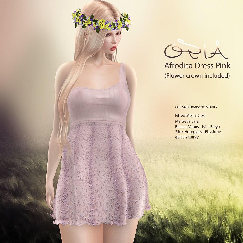 OPIA Afrodita Pink Dress ♥ - TeleportHub.com Live!