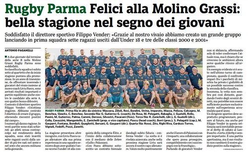 Gazzetta di Parma 01.05.19 - pag 43 - Primo XV