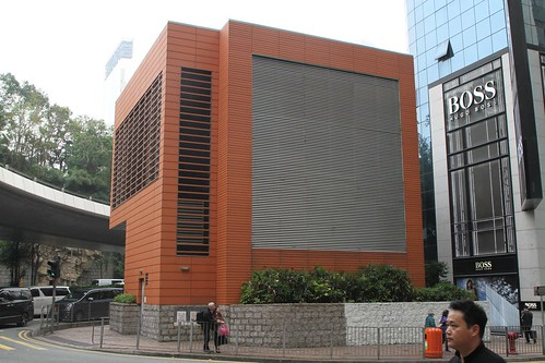 MTR West Rail ventilation structure on Canton Road