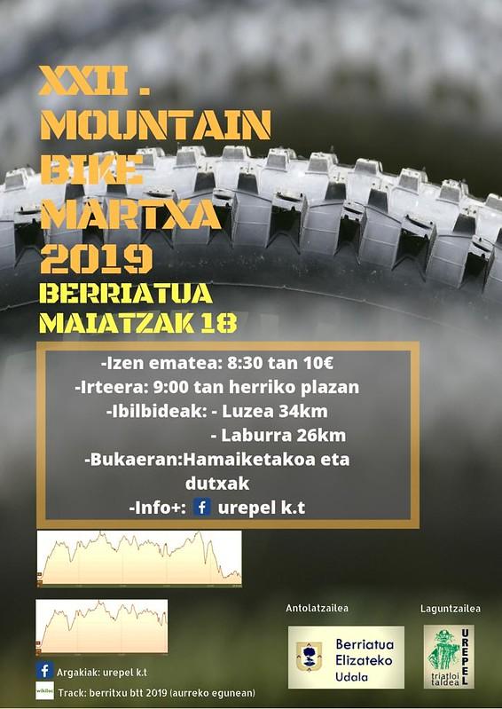 cartel de la Martxa Berriatua 2019