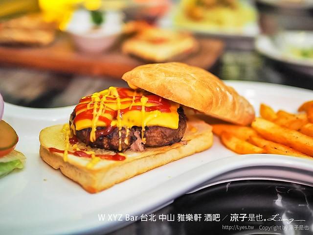 W XYZ Bar 台北 中山 雅樂軒 酒吧 17