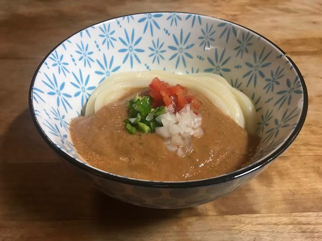 Gazpacho Udon homemade