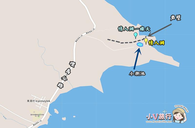 蘭嶼東清部落私房景點 情人洞一線天地圖