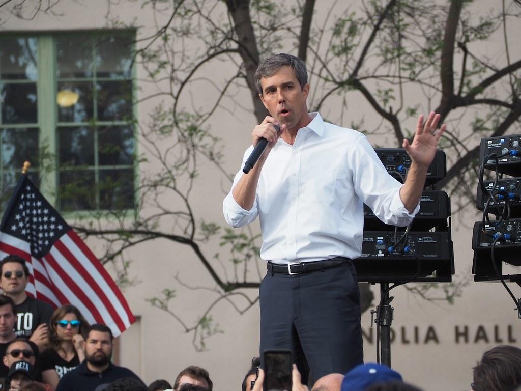 美國民主黨總統候選人歐洛克(Beto O'Rourke)。圖片來源:Luke Harold(CC0 1.0)