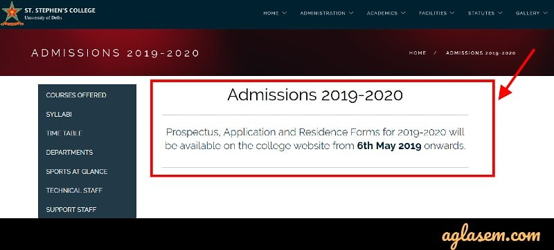 St Stephens to Start Registration From 6 May; DU Admission 2019 to Start Soon