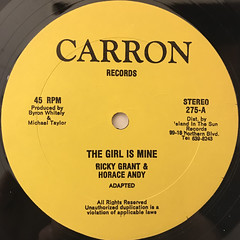 RICKY GRANT & HORACE ANDY:THE GIRL IS MINE(LABEL SIDE-A)