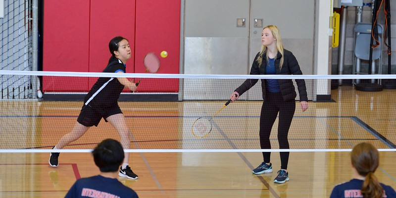 Varsity Badminton vs. International, April 30, 2019