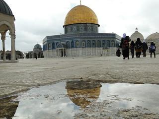 Der Felsendom bzw. al-Aqsa-Moschee