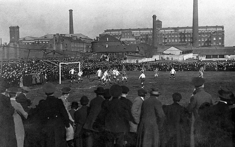 Матч сборных Санкт-Петербурга и Швеции. 1913