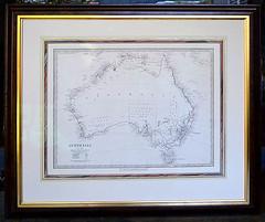 Historic Map of Australia c1839