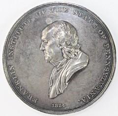 1841 Franklin Institute Medal obverse