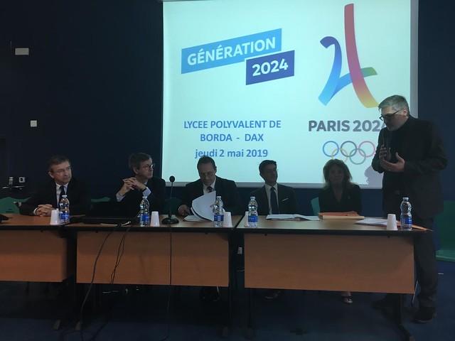 Label Génération 2024: visite de Thierry Terret, délégué ministériel aux Jeux Olympiques et Paralympiques dans les Landes
