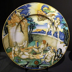 Dish with the Expulsion from Paradise and the Sacrifice of Kain and Abel, anonymous, c. 1535 - c. 1545