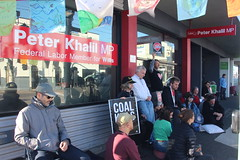 Meditating at Vigil outside Peter Khalil office #climatestrike #Fridaysforfuture - IMG_4586
