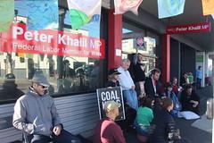 Meditating at Vigil outside Peter Khalil office #climatestrike #Fridaysforfuture - IMG_4586