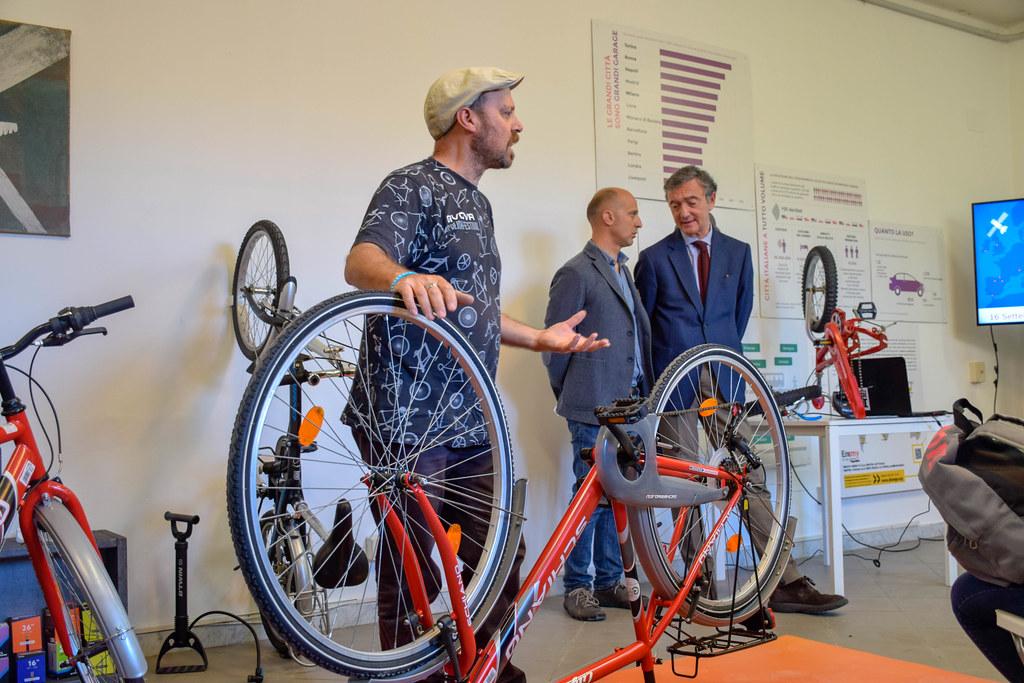 Inaugurazione del Bike Lab di Città della Scienza