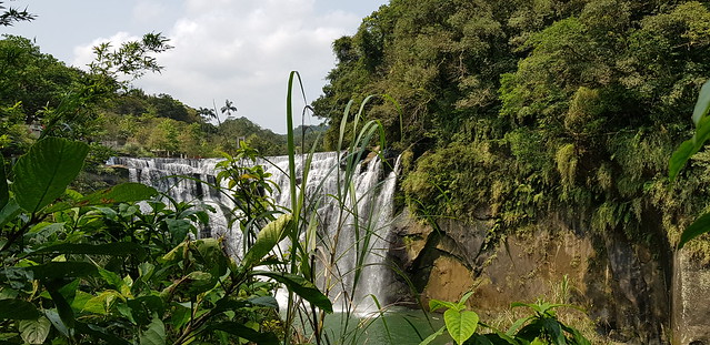 Golden waterfall