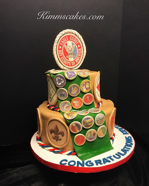 Eagle Scout Cake by Kimmberly's Cakes