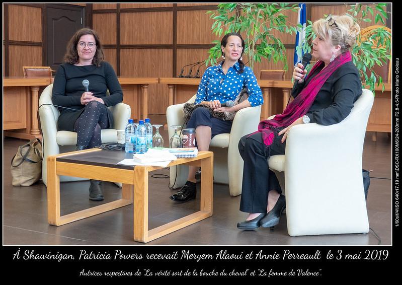 À Shawinigan, Patricia Powers recevait Meryem Alaoui et Annie Perreault le 3 mai 2019