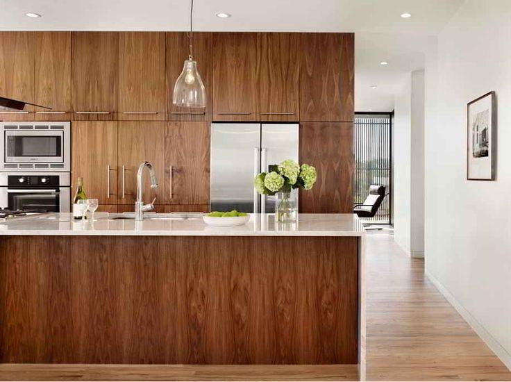 Contemporary Kitchen Cabinets Modern Walnut Kitchen Flickr
