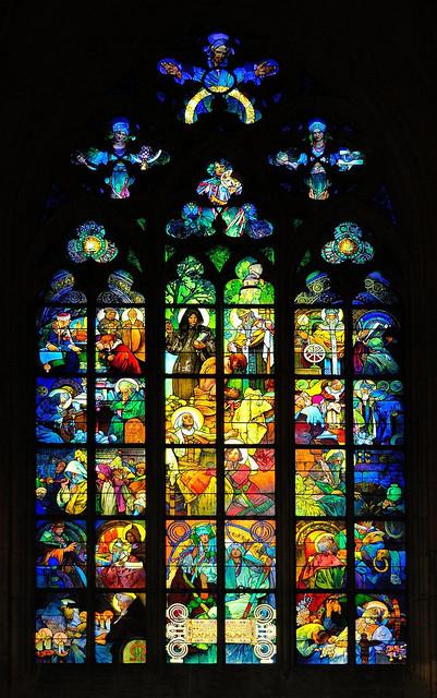 Prague : Mucha stained glass (Mucha vitráže)  / St. Vitus Cathedral / Katedrála svatého Víta  - 6/10