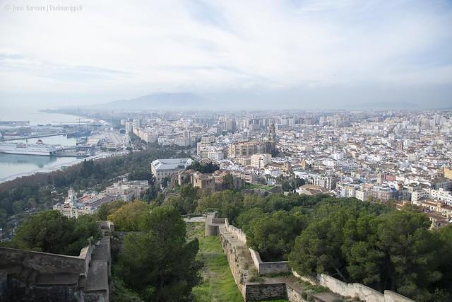 Gibralfaron muurilta näkee kauas