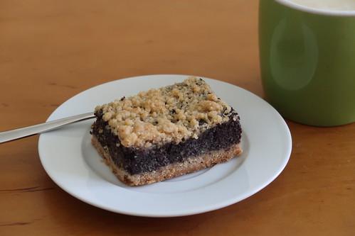 Dinkelmohnkuchen zum Nachmittagskaffee