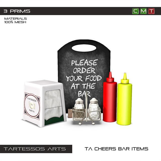 TA Cheers Bar Items
