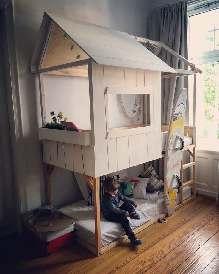 Ikea Double Kura Hack Two Beds Made To One Playhouse Flickr