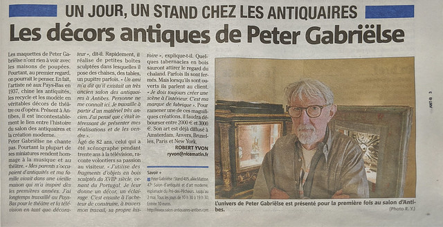 Peter on the local news paper