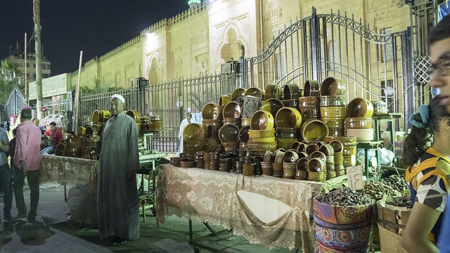 Pottery pots vendor in Ramadan market