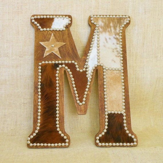 Cowhide Letter M Western Home Decor Wall Hanging Cowboy Flickr