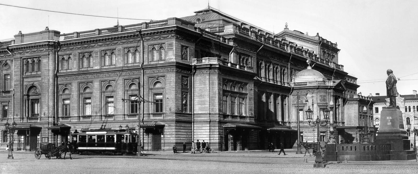 Здание Консерватории Императорского Русского музыкального общества с церковью во имя Рождества Пресвятой Богородицы