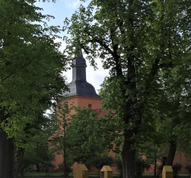 1722 Ribbeck barocke Schweifhaube und Laterne nach Umbau gotischer Dorfkirche Am Birnbaum 2 in 14641