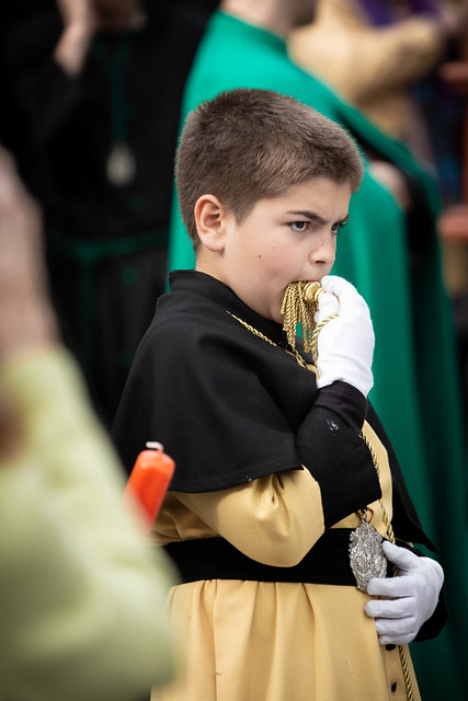 Boy at Easter procession in Palma