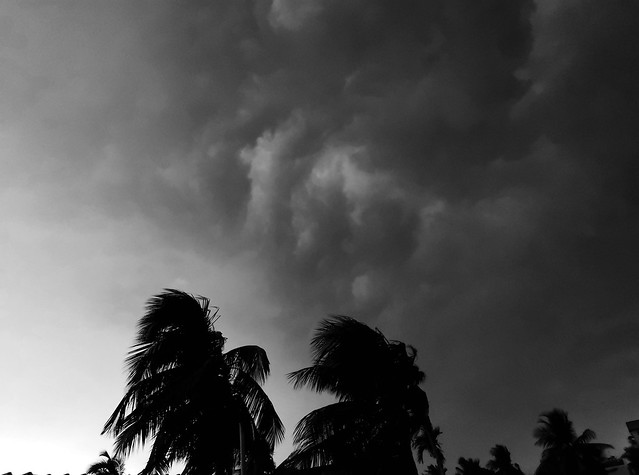 Nor'wester hitting Kolkata