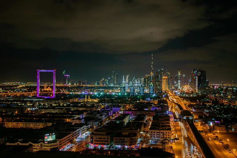 Dubai Skyline mit Dubai Frame