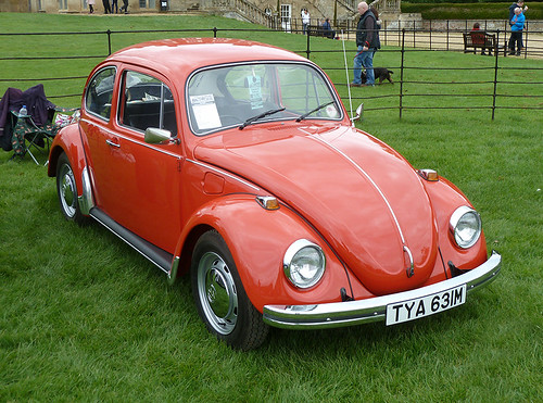 Red, one-owner 1973 Beetle