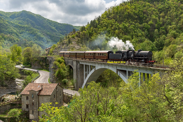 La 741 sul viadotto di Valbura