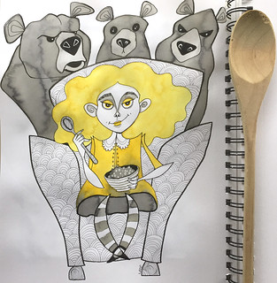 17 - Goldilocks and the Three Bears - Art Journal Page